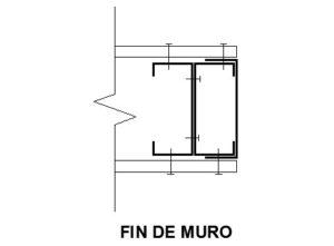 encuentro fin de muro perfiles steel framing metalcon